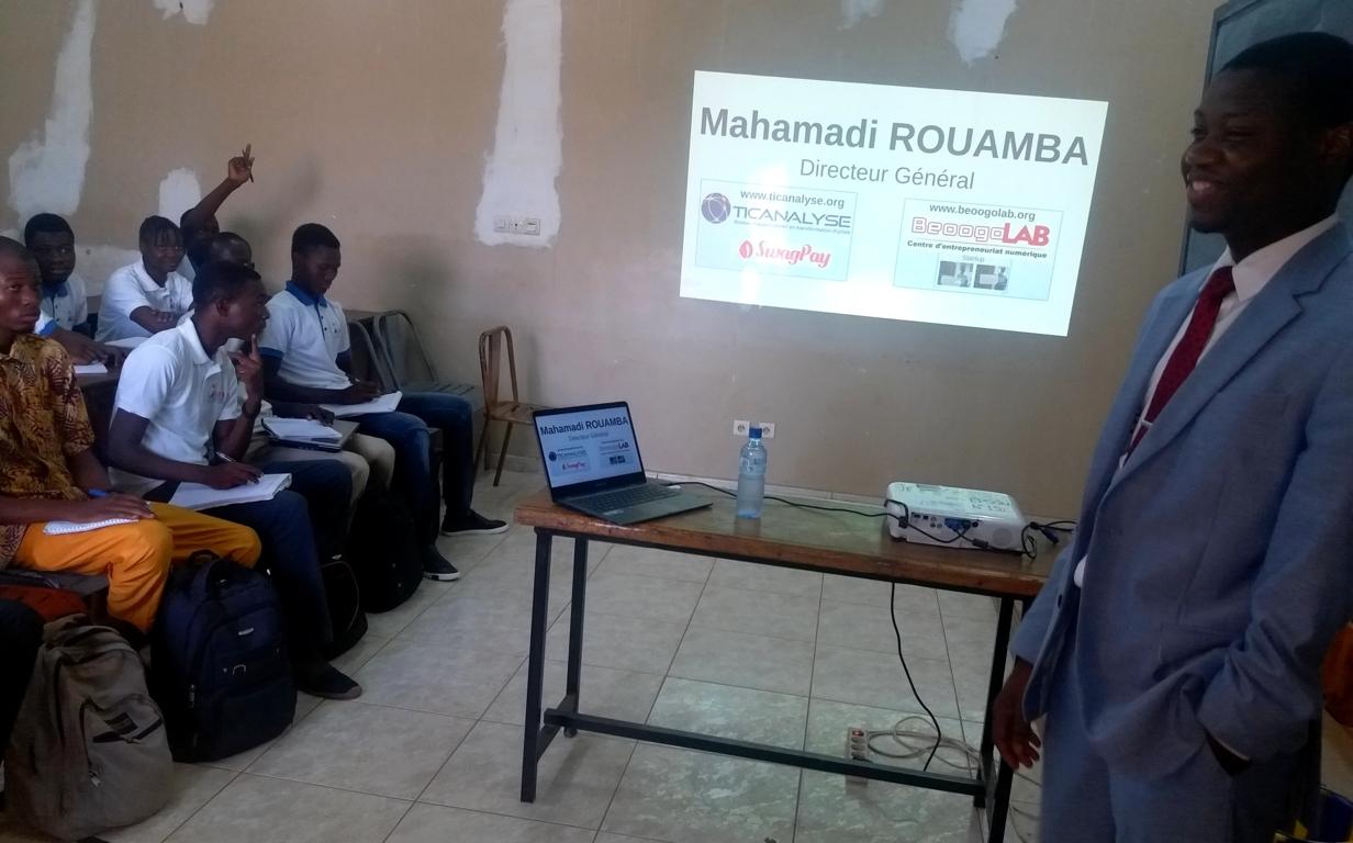 72heures de l'IBAM : BeeogoLAB explique l'entrepreneuriat numérique aux étudiants