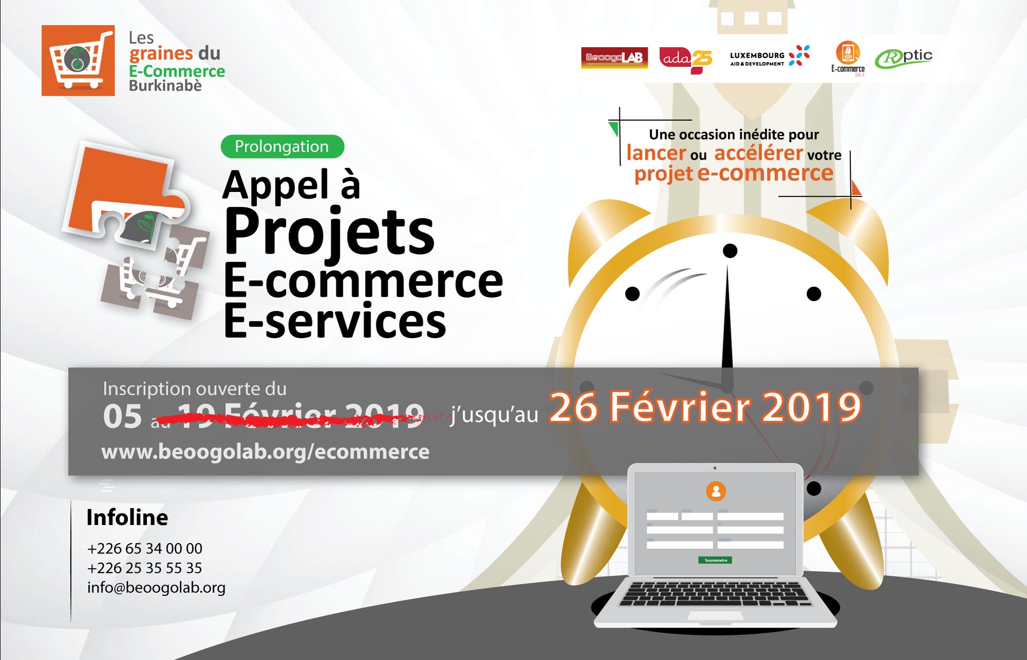 Extension de l'appel à projets : boostez votre entreprise ou votre projet de e-commerce ou e-services au Burkina